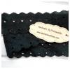 ลูกไม้ผ้าสีดำช่วงลายกว้าง 2 cm