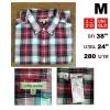 เสื้อเชิ้ต Uniqlo เสื้อเชิ้ตลายสก๊อต Size M