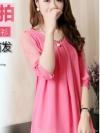 พรีออเดอร์ เสื้อผ้าชีฟอง สีชมพู มีไซด์ M/L/XL