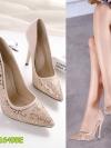 Pre รองเท้าส้นสูง คัทชู แฟชั่น ราคาถูก มีไซด์ 35-40