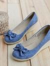 พรีออเดอร์ รองเท้าส้นเตารีด สีน้ำเงิน มีไซด์ 34-39