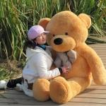 ตุ๊กตาหมียิ้ม Teddy ตุ๊กตาตัวใหญ่ 1.6 เมตร สีน้ำตาลอ่อน น่ารักน่ากอด