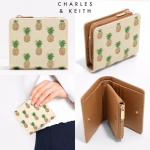 CHARLES & KEITH BEIGE BOXY PINEAPPLE WALLET