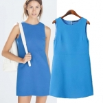 [Preorder] เดรสทำงานแฟชั่นแขนกุดสไตล์ยุโรป แบรนด์ ZARA (ไซส์ S M L) ZARA MICN women's 2014 autumn new European style female backing back slit skirt sleeveless dress
