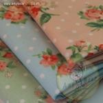 เซตผ้าฝ้ายลายดอกไม้ (1/8 หลา ) 3 ชิ้น