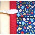 ⛔ ผ้าcotton สั่งจาก USA 27x45 cm +ผ้าพื้น cotton สีครีม,ผ้าลายจุดแดงหาในพื้นที่ขนาด 27x50cm สั่งหลายจำนวนผ้าต่อกันค่ะไม่ตัดแยกค่ะ