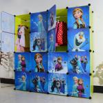สีเขียว : ตู้ DIY ลายการ์ตูน Frozen มีหลายขนาด 6,8,9,12,16 ช่อง พลาสติกหนา รับน้ำหนักได้ช่องละประมาณ 10-15 กิโลกรัม
