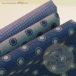 เซตผ้าฝ้ายโทนสีน้ำเงิน-เทา (1/8 หลา ) 3 ชิ้น