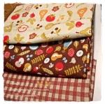 MARCH58Pack27 : ผ้าจัดเซตผ้าอเมริกา 1 ชิ้น+ผ้าลายตารางผ้าในตลาดไทย คอตตอน 2 ชิ้น ขนาดผ้าแต่ละชิ้น 25-27 X 45-50cm