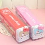 พร้อมส่งสีแดงค่ะ กล่องดินสอรถบัส Hello Kitty เข็นไปมาได้จ้า