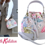 (Pre-order) Cath Kidston Canvas Leather Bucket Bag