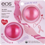 EOS Evolution Of smooth Lip Balm Limited Edition Breast Cancer Awareness Pack ( Strawberry Sorbet and Limited Edition Wildberry)