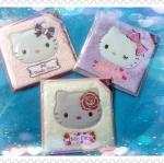 พร้อมส่งค่ะ Sanrio Hello Kitty velvet card pack + stickers หรูมาก ให้ได้ทุกโอกาสนะคะ