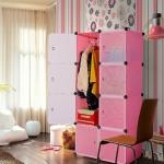 สีชมพู บานตู้สีขาว ตู้ DIY มีหลายขนาด 6,8,9,12,16 ช่อง พลาสติกหนา รับน้ำหนักได้ช่องละประมาณ 10-15 กิโลกรัม