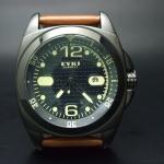 นาฬิกาข้อมือ EYKI OVERFLY ซีรี หน้าปัดสีดำสายน้ำตาล