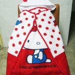 พร้อมส่งค่ะ ผ้าห่มมีฮู้ดHello Kitty สินค้าพร้อมส่งนะคะ ^ ^