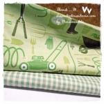 MARCH58Pack19 : ผ้าจัดเซตผ้าอเมริกา+ผ้าลายตารางผ้าในตลาดไทย คอตตอน 2 ชิ้น ขนาดผ้าแต่ละชิ้น 25-27 X 45-50cm