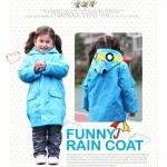 ลายรถ เสื้อกันฝนเด็ก ส่วนสูง 95-120 ซม. เสื้อกันฝนลายการ์ตูน เนื้อผ้าโพลีเอสเตอร์อย่างดี กันฝนได้