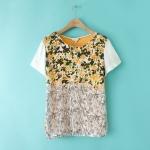 [Preorder] เสื้อแฟชั่นแขนสั้นสไตล์ยุโรป แบรนด์ LILY สีส้ม (ไซส์ S M L) LILY 2014 summer four Boxia installed new counter genuine purchasing short-sleeved T-shirt