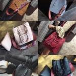 กระเป๋าSet สี่เหลี่ยม ตาราง สายโบฮี