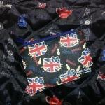 พร้อมส่ง ไว้แจกปีใหม่ค่ะ กระเป๋าซิป Hello Kitty พร้อมช่องสอดบัตร ลายธงชาติอังกฤษ