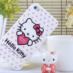 hello kitty เคสแข็งแบบมัน สำหรับ iPhone4/4s ลายคิตตี้ถือหัวใจ