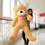 ตุ๊กตาหมีหลับ ตัวใหญ่ ขนาด 1.8 เมตร สีน้ำตาลอ่อน