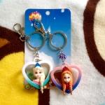 พร้อมส่ง พวงกุญแจ Frozen Elsa&Anna 3 มิติ