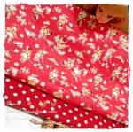 MARCH58Pack28 : ผ้าจัดเซตผ้าอเมริกา 1 ชิ้น+ผ้าลายตารางผ้าในตลาดไทย คอตตอน 1 ชิ้น ขนาดผ้าแต่ละชิ้น 25-27 X 45-50cm