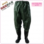 [Preorder] กางเกงพร้อมบู๊ทกันน้ำ New special! The thicker version PVC waterproof waistband pants launching homogeneous waist pants fishing pants the bust of water pants pants