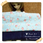 JUNE58.Pack27 : ผ้าถุงแป้ง Yuwa จัดเซต 1 ชิ้น + ผ้ายีนส์ ขนาด 50 X55cm ( เดี๋ยวมาอัพเดทขนาดผ้า Yuwa นะคะ )