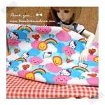 JULY58.Pack2 : ผ้าจัดเซต 2 ชิ้น ผ้า Kitty USA +ผ้าเนื้อดีในไทย ขนาด แต่ละชิ้น25- 27 X 45-50 cm