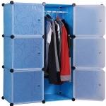 สีฟ้า บานตู้สีขาว ตู้ DIY มีหลายขนาด 6,8,9,12,16 ช่อง พลาสติกหนา รับน้ำหนักได้ช่องละประมาณ 10-15 กิโลกรัม