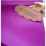หนังเทียมสีชมพูอมม่วง แบ่งขาย 1 หน่วย = ขนาด1/4 หลา : 45X 65 cm