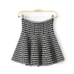 [Preorder] กระโปรงสั้นแฟชั่นสไตล์วินเทจ ลายตารางสีขาวดำ 2014 Hitz export trade of the original single-Wei Huo Dongdaemun single tail skirts high waist skirt A word skirt woman