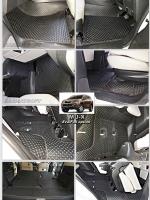ผ้ายางปูพื้นรถยนต์ MU-X ลายกระดุม สีดำด้ายแดง เต็มคัน 22(+ปิดเบาะ)