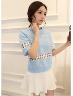 เสื้อสไตล์สาวเกาหลี น่ารักมากๆมีสีฟ้า
