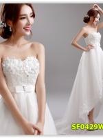 พรีออเดอร์ ชุดแต่งงาน/wedding dress แบบสั้น มีไซด์ XS/S/M/L/XL/XXL/XXXL