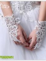 Pre ถุงมือ สีขาว