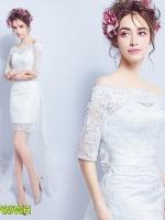Pre ชุดหมั้น ชุดแต่งงานสั้น มีไซด์ XS/S/M/L/XL/XXL/XXXL