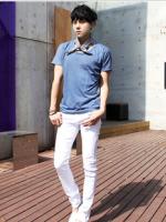 กางเกงยีนส์ชายสีขาว