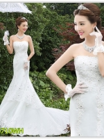 Pre ชุดแต่งงานสั้น ชุดหมั้น มีไซด์ S/M/L/XL/XXL