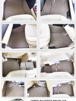 ผ้ายางปูพื้นรถยนต์ NEW CAMRY 2012-15 ลายกระดุม สีน้ำตาล เต็มคัน เข้ารูป 100%