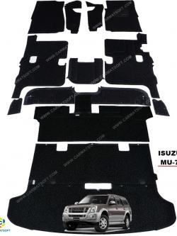 พรมดักฝุ่นไวนิลรีดขอบ ISUZU MU-7 สีดำ เข้ารูป100% เต็มคัน สวยงาม หนานุ่ม เหยียบสบายเท้าที่สุด