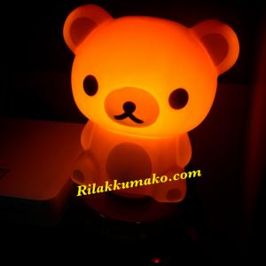โคมไฟ Rilakkuma ริลัคคุมะ มีสวิชต์ เปิด-ปิด เสียบปลั๊กไฟบ้าน มี2ขนาด: 7นิ้ว และ 12นิ้ว