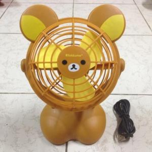 พัดลม USB หรือถ่านAA 3ก้อน ลายRilakkuma หมีน้ำตาล สูง8นิ้ว