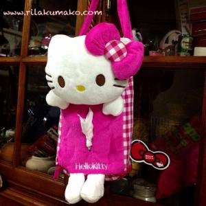 ที่ใส่ทิชชู่ แขวนหลังเบาะรถ ลาย Hello Kitty คิตตี้ สีชมพู