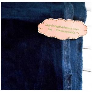 ผ้าลูกฟูกสีน้ำเงินเข้มลอนเล็ก ขนาดลอน2 มิลลิเมตรหาจากในไทยค่ะแบ่งขายขั้นต่ำ1/4m (50x55cm)