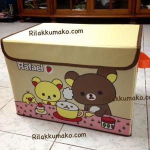 กล่องอเนกประสงค์ Rilakkuma ริลัคคุมะ กล่องแข็งแรง พับเก็บได้ มีฝาปิด ขนาด 10x15x10นิ้ว #2