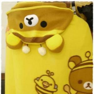 ผ้าคลุมไหล่ San-X Rilakkuma ริลัคคุมะ ชุดผึ้ง ขนาด 90x70cm